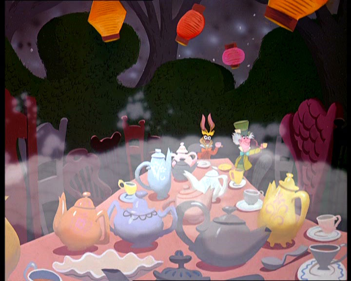 the mad tea party alice in wonderland